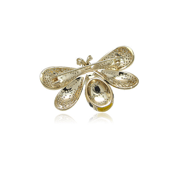 Simulated Pearl Bee Brooch
