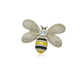 Cubic Zirconia Bee Brooch