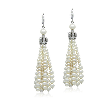 Simulated Pearl Drop Earring