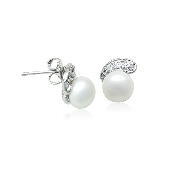 7.5mm Freshwater Pearl Stud Earrings