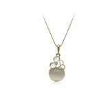 Flower Simulated Moonstone Necklace - CHOMEL