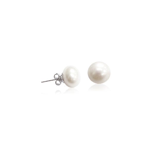 11-12mm Freshwater Pearl Stud Earrings - CHOMEL