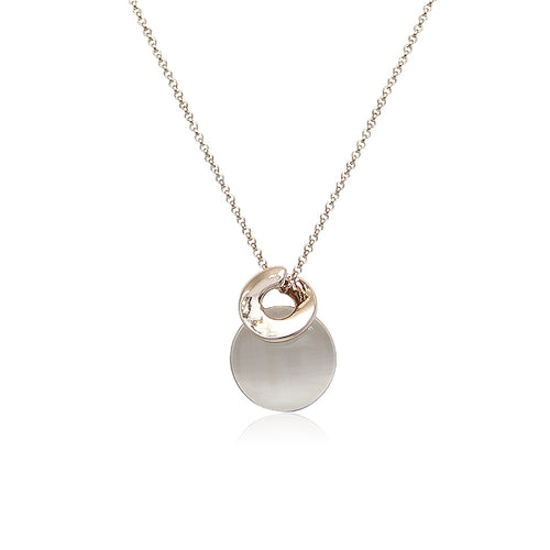 Simulated Moonstone Pendant Necklace - CHOMEL