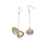 Cubic Zirconia Shell Earrings