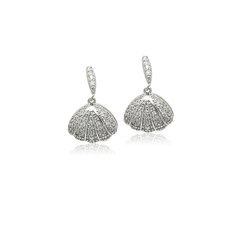 Cubic Zirconia Butterfly Drop Earrings
