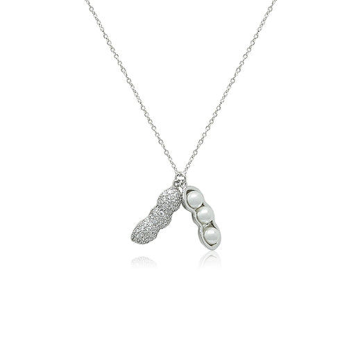 Peanut Cubic Zirconia Necklace - CHOMEL