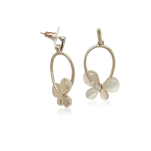 Simulated Moonstone Drop Earrings - CHOMEL