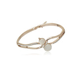Simulated Moonstone Rosegold Bangle