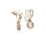 Simulated Moonstone Rosegold Necklace & Earring Set