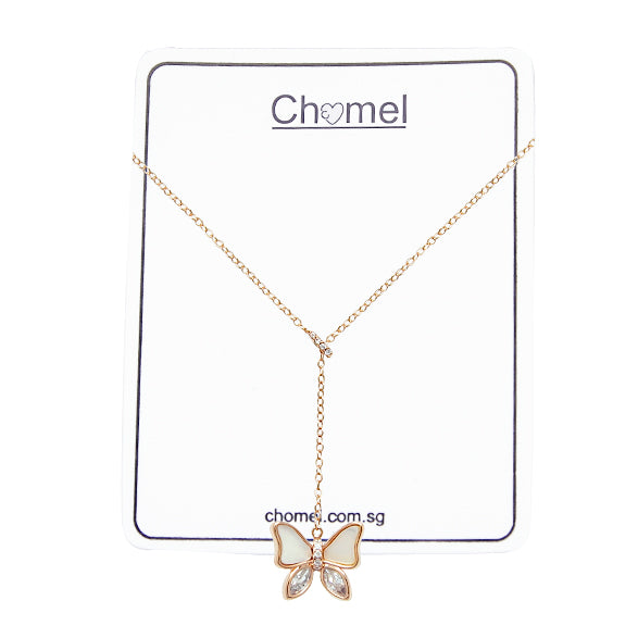 Butterfly Mother of Pearl Necklace - CHOMEL