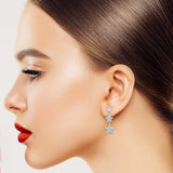 Star Cubic Zirconia Drop Earring