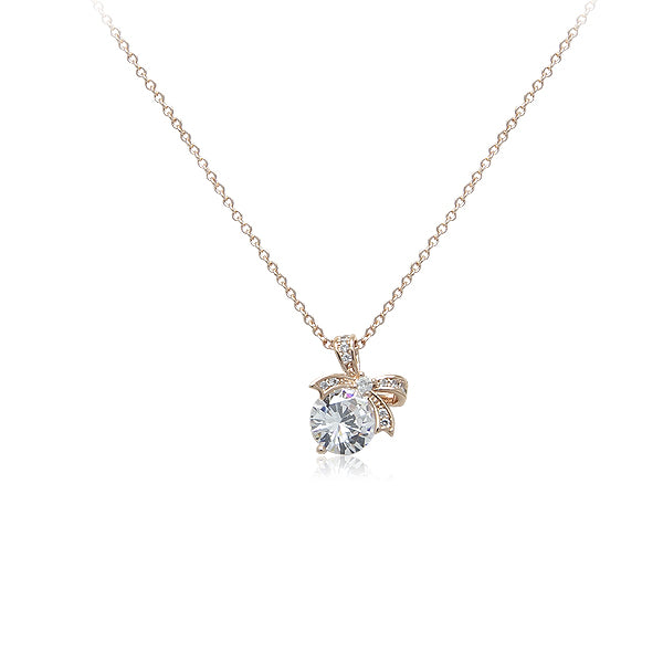Ribbon Cubic Zirconia Ribbon Necklace