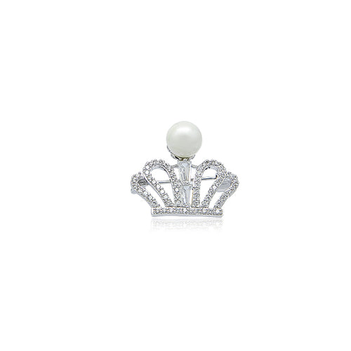 Simulated Pearl Brooch - CHOMEL
