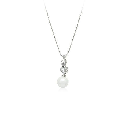 Simulated Pearl Necklace - CHOMEL