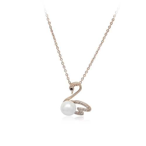 Swan Pearl Necklace - CHOMEL