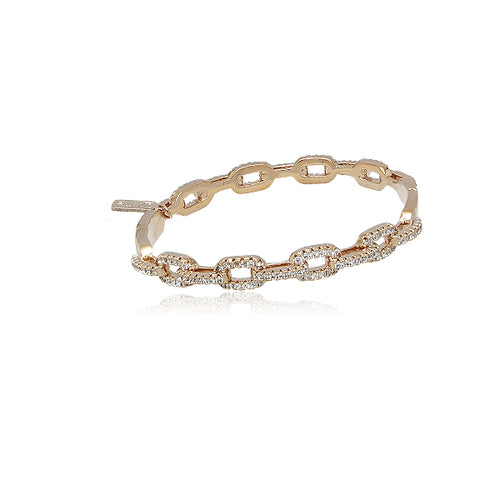 Rose Gold Cubic Zirconia Bangle