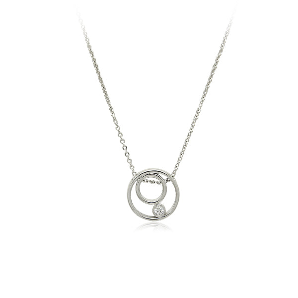 Cubic Zirconia Pendant Necklace - CHOMEL