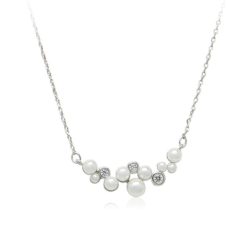 Simulated Pearl Pendant Necklace