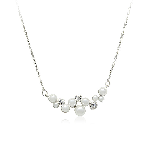 Simulated Pearl Pendant Necklace - CHOMEL
