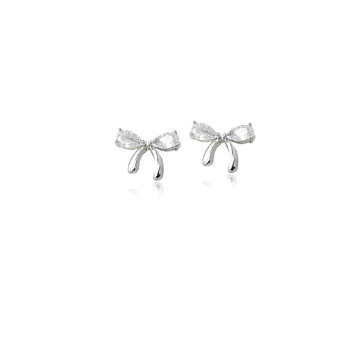Ribbon Cubic Zirconia Earrings