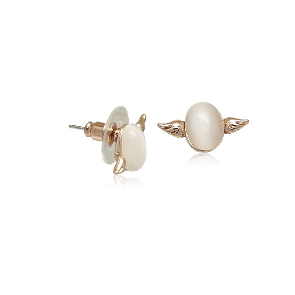 Wings Simulated Moonstone Earrings - CHOMEL