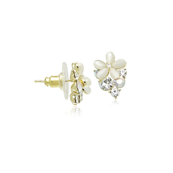 """Botanical Collection"" Stimulated Moonstone earrings"