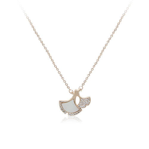 Leaf Mother of Pearl  Necklace - CHOMEL