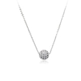 Cubic Zirconia Round Pendant Necklace