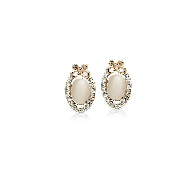 Simulated Moonstone Stud Earrings