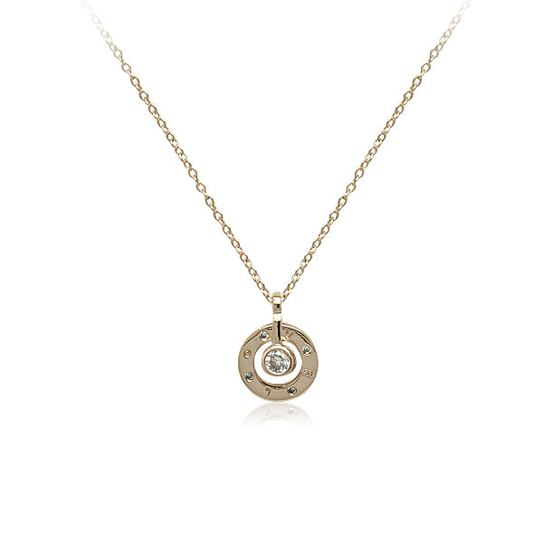 Round Cubic Zirconia  LOVE Necklace - CHOMEL