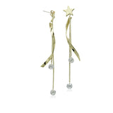 Star Earrings With Crystal Drop - CHOMEL