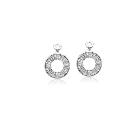 Cubic Zirconia Lock & Key Mismatch Stud Earring