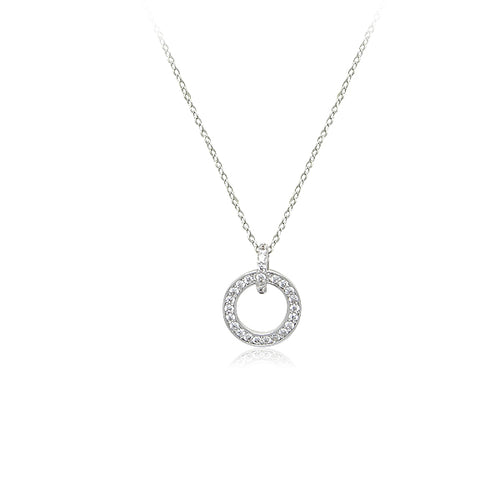 Cubic Zirconia Ring Necklace