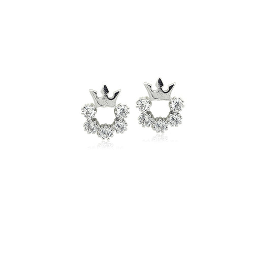 Crown Cubic Zirconia Earrings