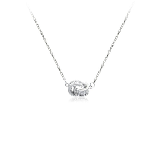 Interlocking Cubic Zirconia Necklace - CHOMEL