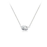 Interlocking Cubic Zirconia Necklace
