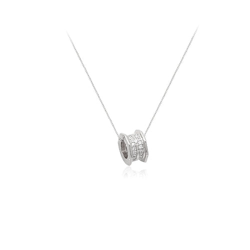 Cubic Zirconia Tunnel Necklace - CHOMEL
