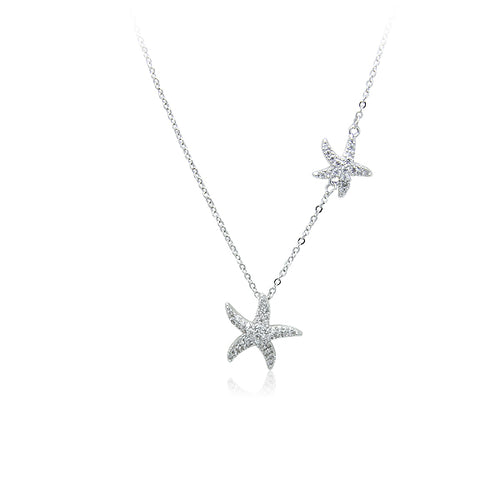 Starfish Cubic Zirconi  Necklace - CHOMEL