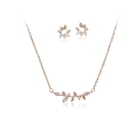Cubic Zirconia Necklace & Earrings Set