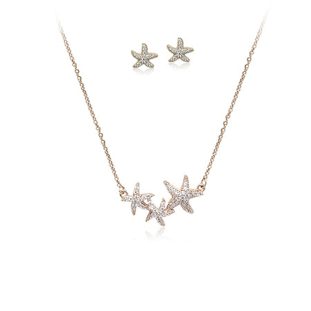 Snow Flake Cubic Zirconia Pendant Necklace