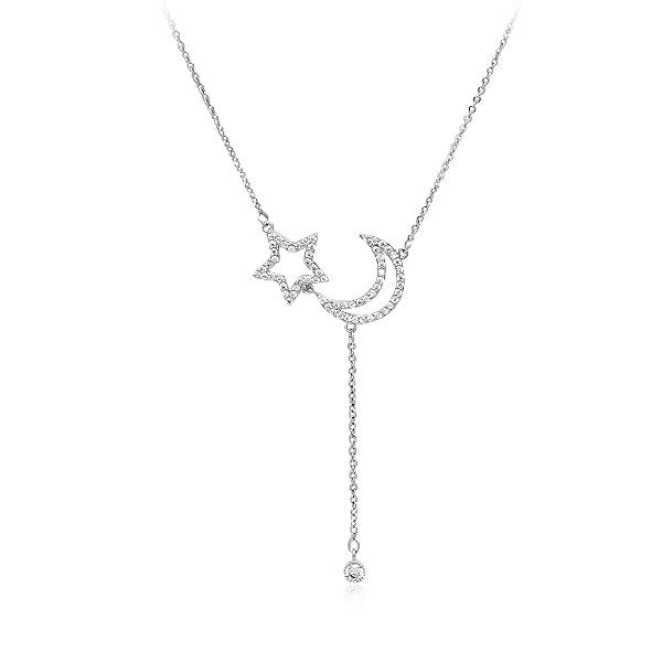 Cubic Zirconia Necklace and Earrings Set - CHOMEL