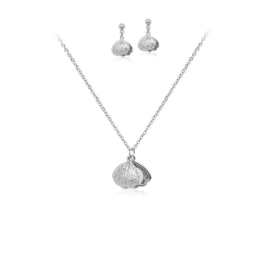 Shell Necklace & Earrings Set