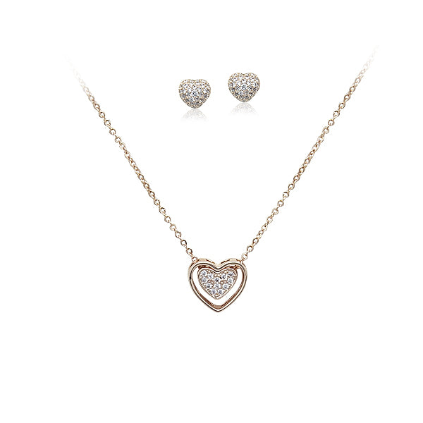 Heart Cubic Zirconia Set