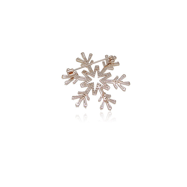 Snow Flake Cubic Zirconia Brooch
