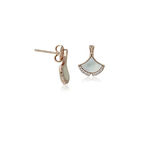 Leaf Mother of Pearl Earrings - CHOMEL