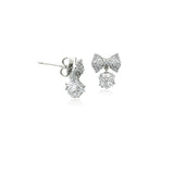 Ribbon Cubic Zirconia Earrings - CHOMEL