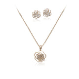 Flower Cubic Zirconia Set