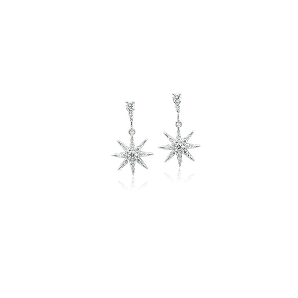 Cubic Zirconia Stud Drop Earrings