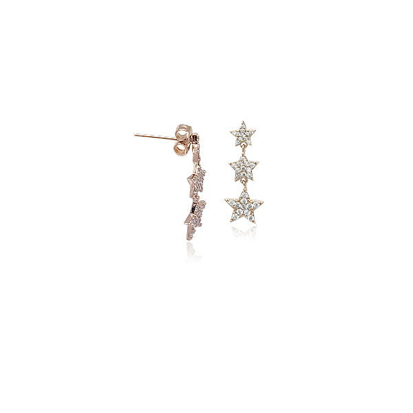 Star Cubic Zirconia Stud Earrings - CHOMEL