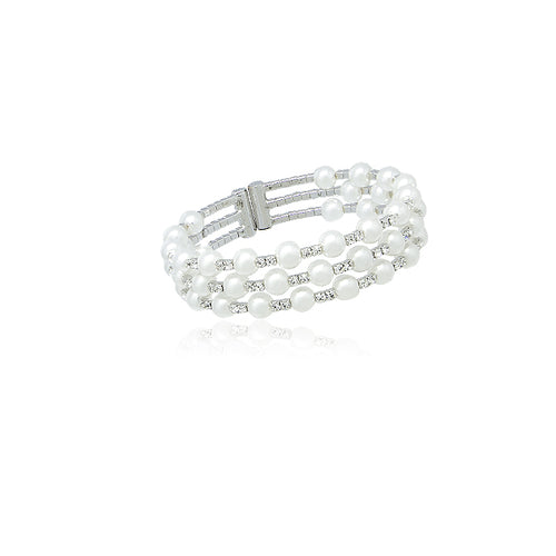 Simulated Pearl Bangle